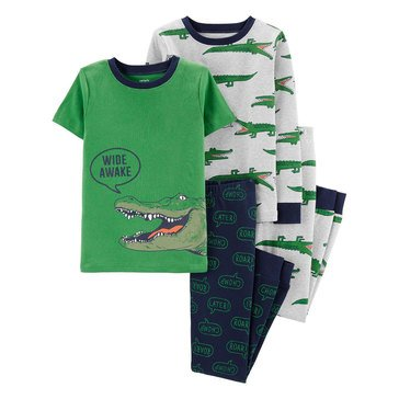 Carter's Little Boy's 4-Piece Gators Cotton Sleepwear