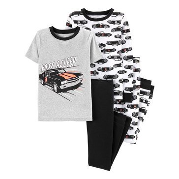 Carter's Little Boy's 4-Piece Race Cars Cotton Sleepwear