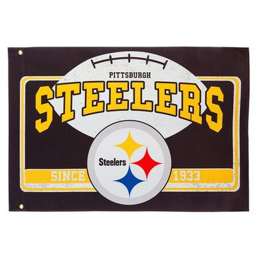 Evergreen Pittsburg Steelers Linen Estate Flag