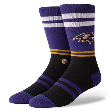 Stance Men's Baltimore Ravens Logo Sock