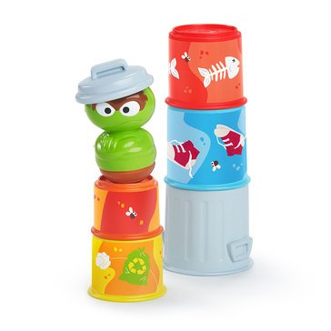 Sesame Street Oscar the Grouch's Stacking Cans Stackable Cups