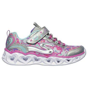 Skechers Kids Little Girls' Heart Light-Up Sneaker