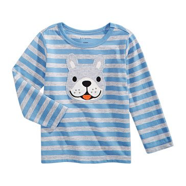 First Impressions Baby Boys' Dog Stripe Tee