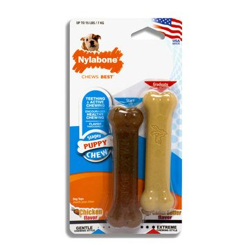 Nylabone Puppy Chew Power chew Peanut Butter Bone Twin pack