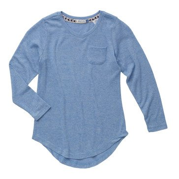Yarn & Sea Big Girls' Marl Vneck Tee