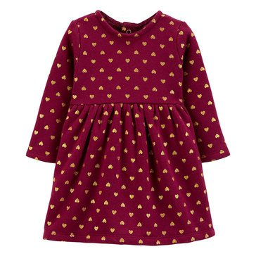 Carter's Baby Girls' Glitter Heart Fleece Holiday Dress