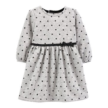 Carter's Baby Girls' Polka Dot Fleece Holiday Dress