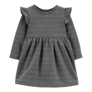 Carter's Baby Girls' Striped Fleece Holiday Dress