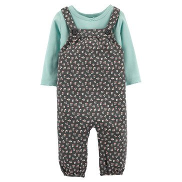 Carter's Baby Girls' 2-Piece Floral Overall Set