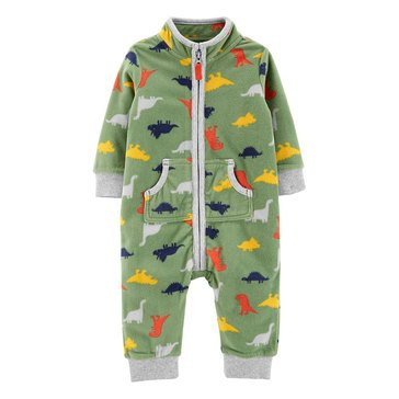 Carter's Baby Boys' Dinosaur Zip-Up Fleece Jumpsuit