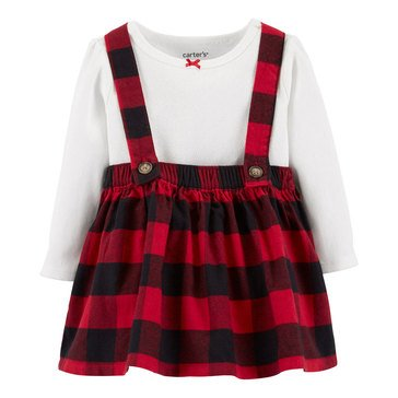 Carter's Baby Girls' 2-Piece Holiday Bodysuit & Skirtall Set