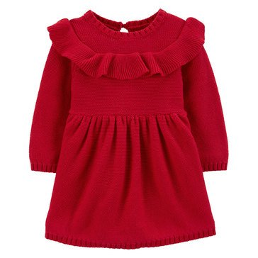 Carter's Baby Girls' Ruffle Holiday Dress