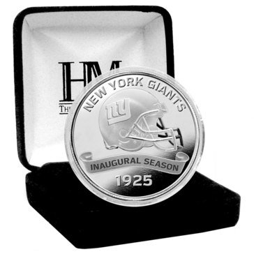 The Highland Mint New York Giants 100th Anniversary Silver Mint Coin