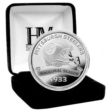 The Highland Mint Pittsburg Steelers 100th Anniversary Silver Mint Coin