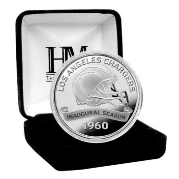 The Highland Mint Los Angeles Chargers 100th Anniversary Silver Mint Coin