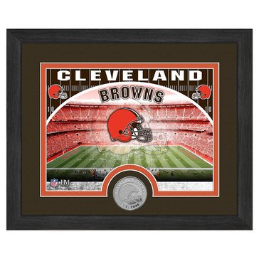 The Highland Mint Cleveland Browns 9x11 Single Coin Team Photo