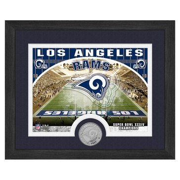 The Highland Mint Los Angeles Rams 9x11 Single Coin Team Photo