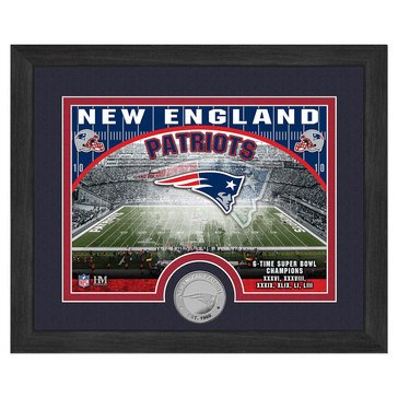 The Highland Mint New England Patriots 9x11 Single Coin Team Photo