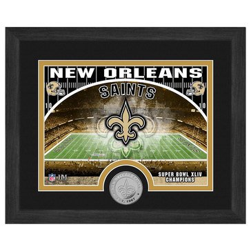 The Highland Mint New Orleans Saints 9x11 Single Coin Team Photo