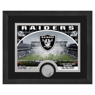 The Highland Mint Oakland Raiders 9x11 Single Coin Team Photo