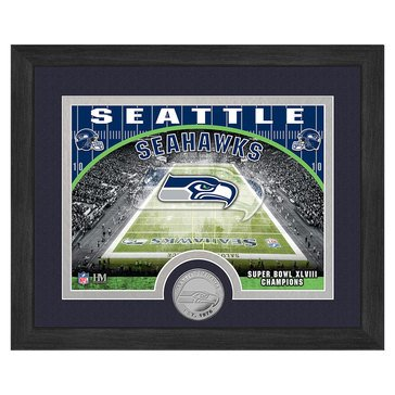 The Highland Mint Seattle Seahawks 9x11 Single Coin Team Photo