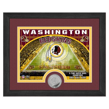 The Highland Mint Washington Redskins 9x11 Single Coin Team Photo