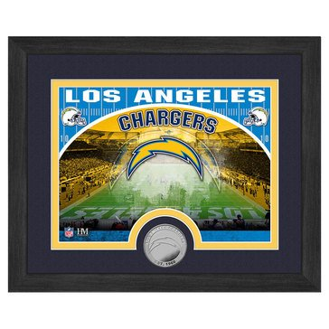 The Highland Mint Los Angeles Chargers 9x11 Single Coin Team Photo
