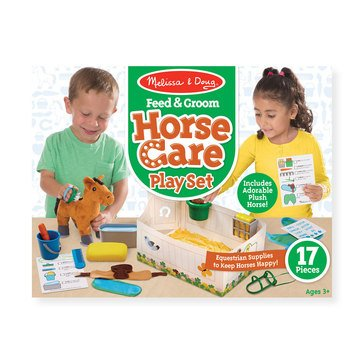 Melissa & Doug Feed Groom Horse Care Play Set