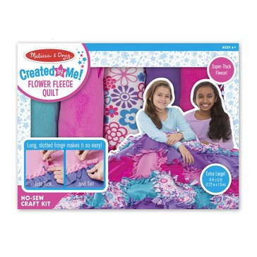 Melissa & Doug Created by Me DIY Flower Fleece Quilt