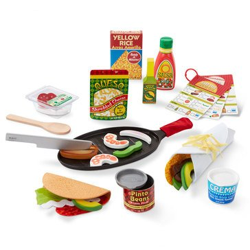 Melissa & Doug Fill Fold Taco Tortilla Pretend 43-Piece Food Set