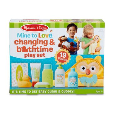Melissa & Doug Changing Bathtime 19-Piece Play Set for My Baby Doll