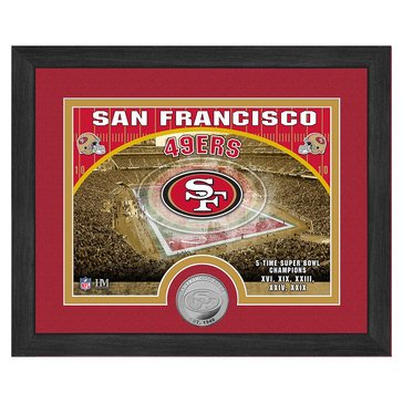 The Highland Mint San Francisco 49ers 9x11 Single Coin Team Photo