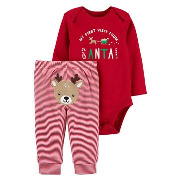 Carter's Baby Girls' 2-Piece Christmas Bodysuit Pant Set