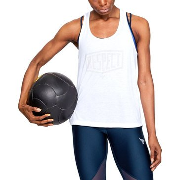 Under Armour Women's Project Rock Whisperlight Tie Back Tank