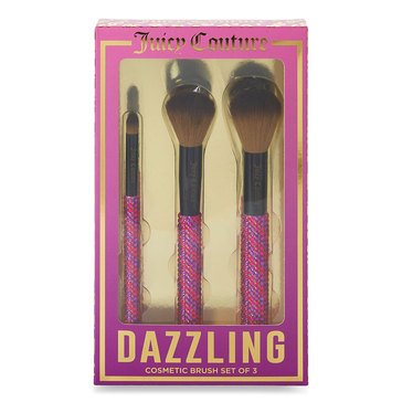 Juicy Couture Dazzling 3-Piece Cosmetic Brush Set