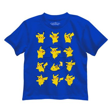 Pokemon Toddler Boys' Pikachu Grid Graphic Tee
