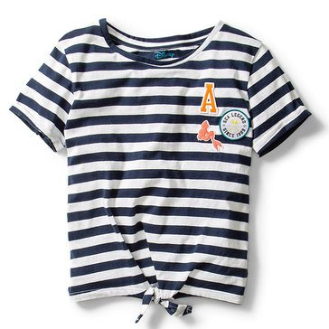 Roxy Big Girls' Disney Little Mermaid Waves Front Tie Tee