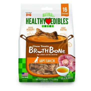 Nylabone Healthy Edibles Chew Bone with Ham Flavor for Dogs
