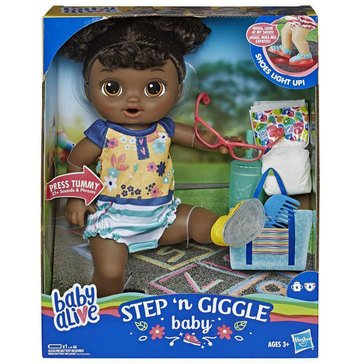 Baby Alive Step N Giggles Black Haired Baby Doll