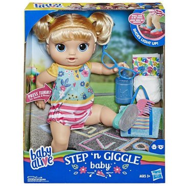 Baby Alive Step N Giggles Blonde Haired Baby Doll