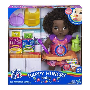 Baby Alive Happy Hungry Baby Doll, Black Hair
