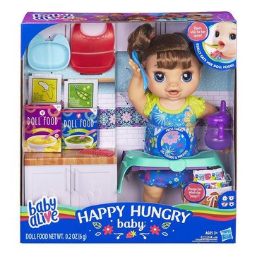 Baby Alive Happy Hungry Baby Doll, Brown Hair
