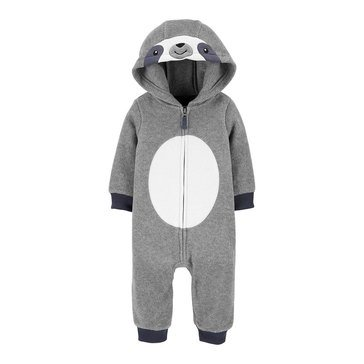 Carter's Baby Boys' Sloth Hooded Microfleece Jumpsuit