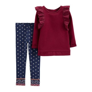 Carter's Baby Girls' 2-Piece Top & Floral Leggings Set