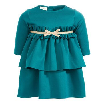 First Impressions Baby Girls' Ruffle Scuba Dress Set