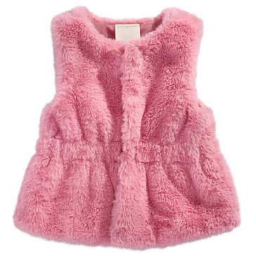First Impressions Baby Girls' Fur Vest