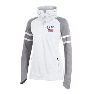 Champion Women's USN Super Fan MTO French Terry 1/4 Zip Cowl Hoodie