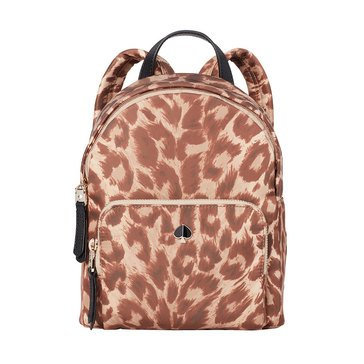 Kate Spade Taylor Leopard Nylon Small Backpack
