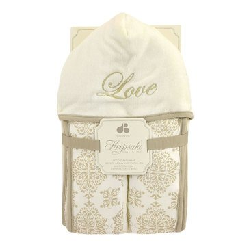 Just Born Keepsake Hooded Towel