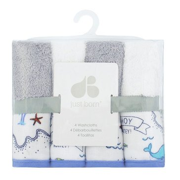 Just Born® 4-Pack Woven Washcloths